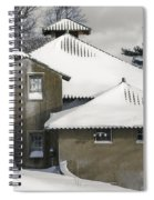 The Barns At Castle Hill After The Snow Spiral Notebook
