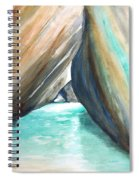 The Baths Turquoise Spiral Notebook