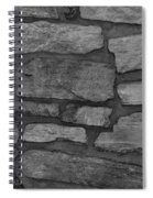 The Battery Wall In Black And White Spiral Notebook