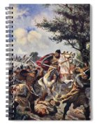 The Battle Of Bouvines, 1214 Spiral Notebook
