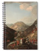 The Battle Of Glen Shiel 1719 Spiral Notebook