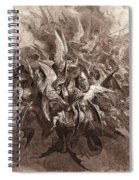 The Battle Of The Angels Spiral Notebook