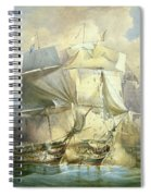 The Battle Of Trafalgar Spiral Notebook