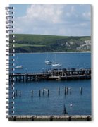 The Bay At Swanage Spiral Notebook