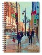 The Bay Department Store Downtown Montreal University And St Catherine Winter City Scene C Spandau  Spiral Notebook