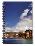 The Bay Of Sorrento Spiral Notebook