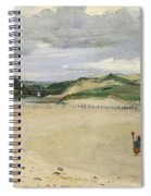 The Beach At Ambleteuse, 1869 Oil On Canvas Spiral Notebook