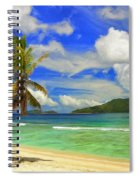The Beach At Anse Gaulettes Spiral Notebook