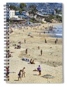 The Beach At Laguna Spiral Notebook