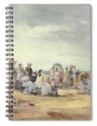 The Beach At Trouville, 1873 Spiral Notebook