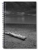 The Beach In Black And White Spiral Notebook