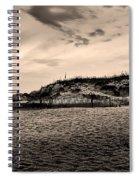The Beach In Sepia Spiral Notebook