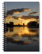 The Beaches Marina At Sunset Spiral Notebook