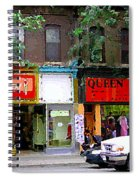 The Beadery Craft Shop  Queen Textiles Fabric Store Downtown Toronto City Scene Paintings Cspandau  Spiral Notebook