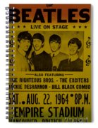 The Beatles First Time In Canada. Spiral Notebook
