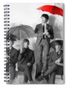 The Beatles - Paul's Red Umbrella Spiral Notebook