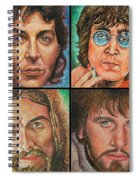 The Beatles Quad Spiral Notebook