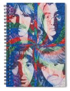 The Beatles Squared Spiral Notebook