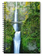 The Beauty Of Multnomah Falls Spiral Notebook