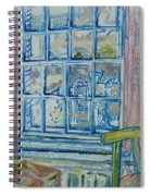 The Bedroom Window Oil & Pastel On Paper Spiral Notebook