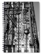 The Bells Of Coney Island In Black And White Spiral Notebook