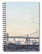 The Ben Franklin Bridge From Penn Treaty Park Spiral Notebook