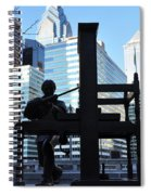 The Ben Franklin Printing Press Statue Spiral Notebook
