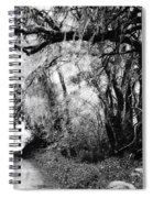 The Bend In The Road Bw Spiral Notebook
