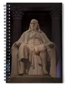The Benjamin Franklin Statue Spiral Notebook