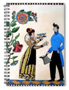 The Betrothal-folk Art Spiral Notebook