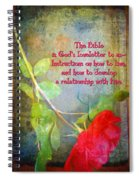 The Bible Spiral Notebook