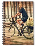 The Bicycle Rider - Leon Spain Spiral Notebook