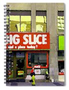 The Big Slice Pizzeria Downtown Toronto Restaurants Doner Kebob House Street Scene Painting Cspandau Spiral Notebook