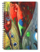 The Bird And The Tulips Spiral Notebook