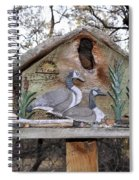 The Birdhouse Kingdom - The Geese A Swimming Spiral Notebook
