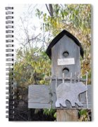 The Birdhouse Kingdom - The Loggerhead Shrike Spiral Notebook