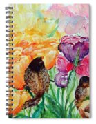 The Birds Of Spring Shower Blessings On You Spiral Notebook
