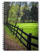 The Black Fence Spiral Notebook