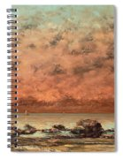 The Black Rocks At Trouville Spiral Notebook