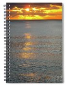 The Black Sea In A Swath Of Gold Spiral Notebook