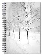 The Blizzard Bw Spiral Notebook