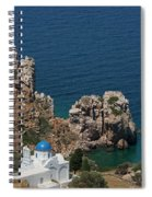 The Blue Domed Church At The Water S Spiral Notebook