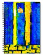 The Blue Doors Of La Rue Des Fauves Spiral Notebook