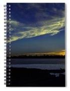 The Blue Hour Sunset Spiral Notebook