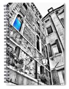 The Blue Window In Venice - Italy Spiral Notebook