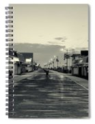 The Boardwalk Before Sunrise In Sepia Spiral Notebook