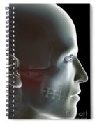 The Bones Of The Head Spiral Notebook