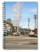 The Borax Plant And Locomotive Spiral Notebook