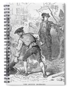 The Boston Massacre, March 5th 1770, Engraved By A. Bollett Engraving B&w Photo Spiral Notebook