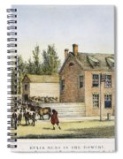 The Bowery, New York, 1783 Spiral Notebook